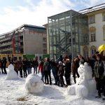 Schneefrauen und Schneemänner